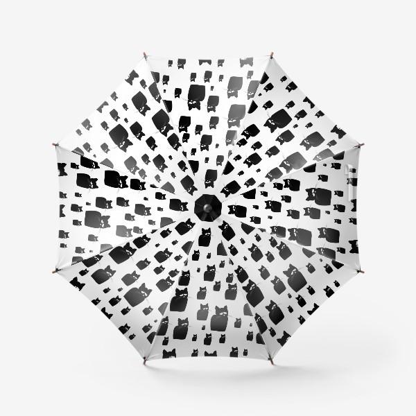 Зонт «Принт из грустных черных котов Киану»