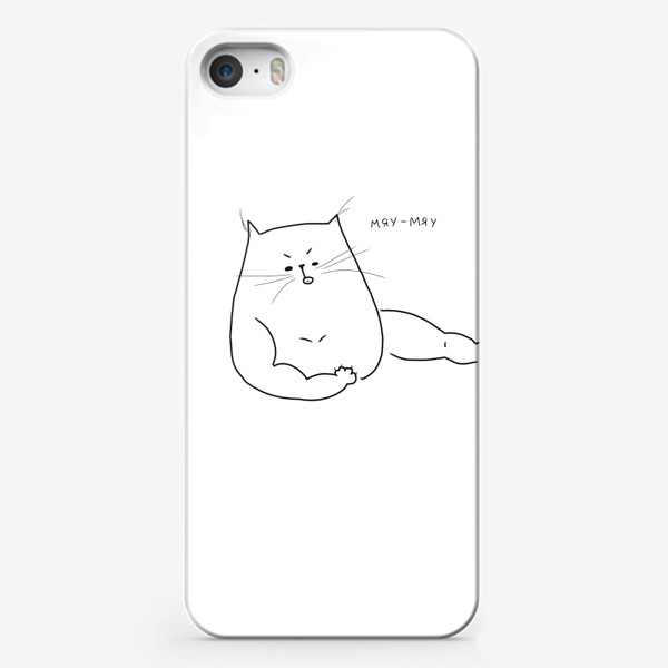 Чехол iPhone «Кот мускулистый. Мяу-мяу »