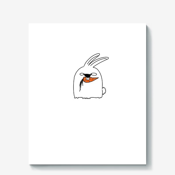Холст «Кролик грызет морковь »