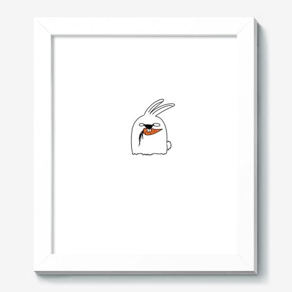 Картина «Кролик грызет морковь »