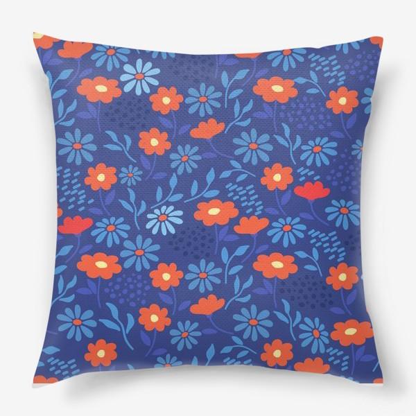 Подушка «Цветочная лужайка»