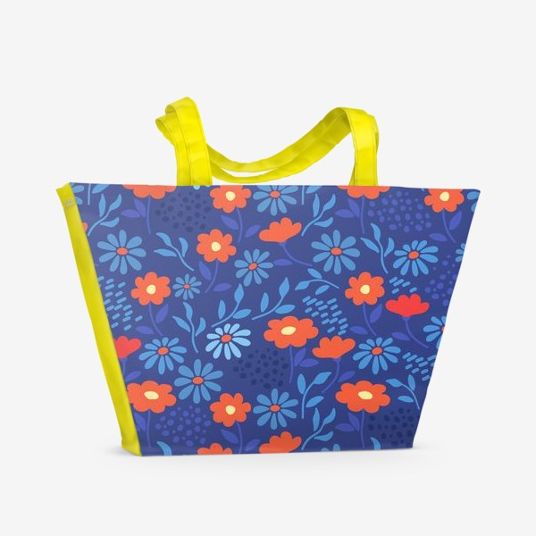 Пляжная сумка «Цветочная лужайка»