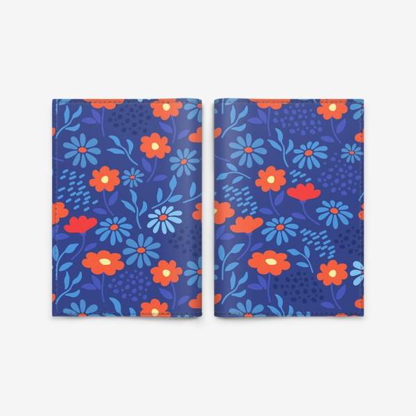 Обложка для паспорта «Цветочная лужайка»
