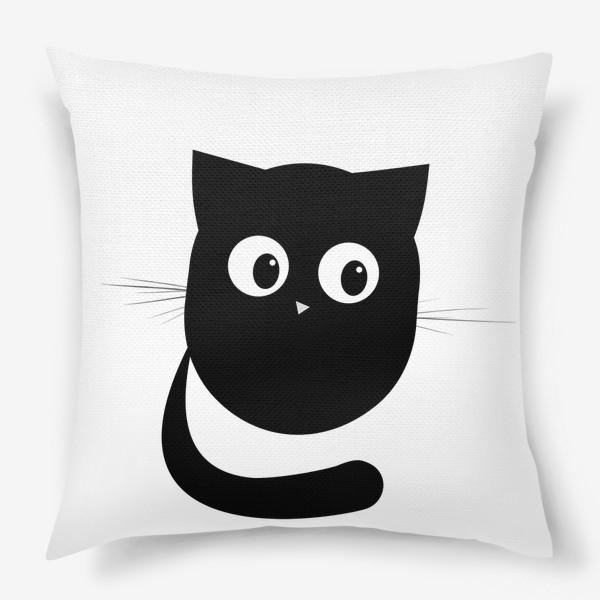 Подушка «Нафаня - маленький черный котик»