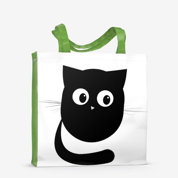 Сумка-шоппер «Нафаня - маленький черный котик»