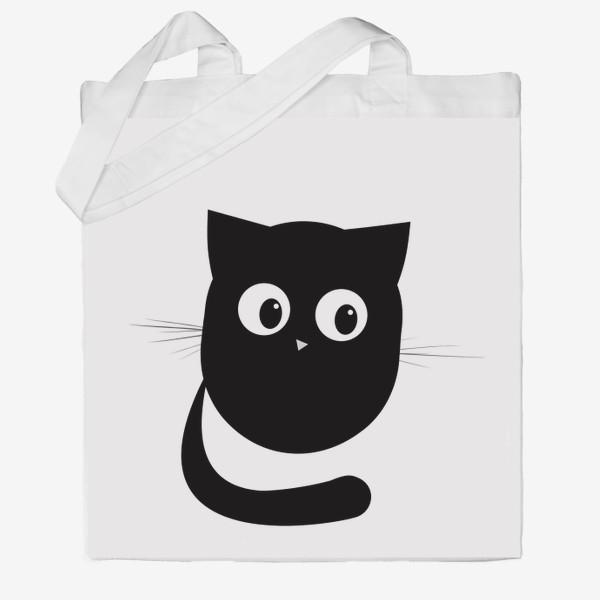 Сумка хб «Нафаня - маленький черный котик»