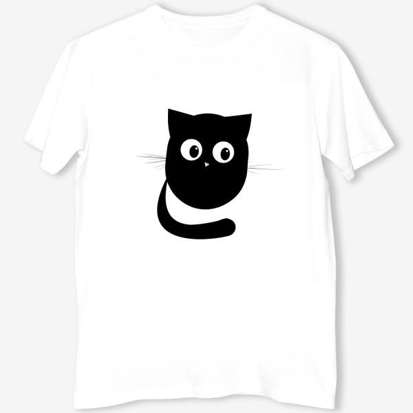 Футболка «Нафаня - маленький черный котик»