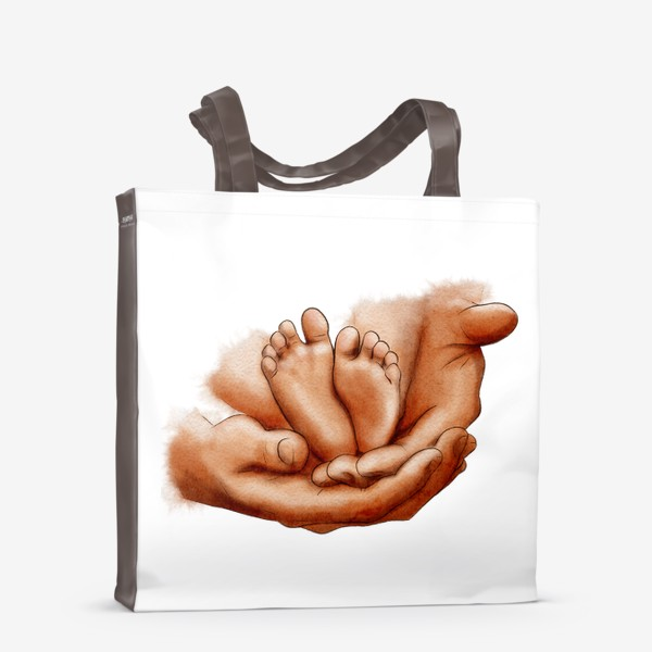 Сумка-шоппер «Руки отца, ножки младенца»