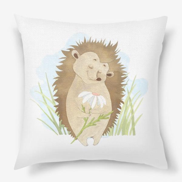Подушка «Ёжик с ромашкой»