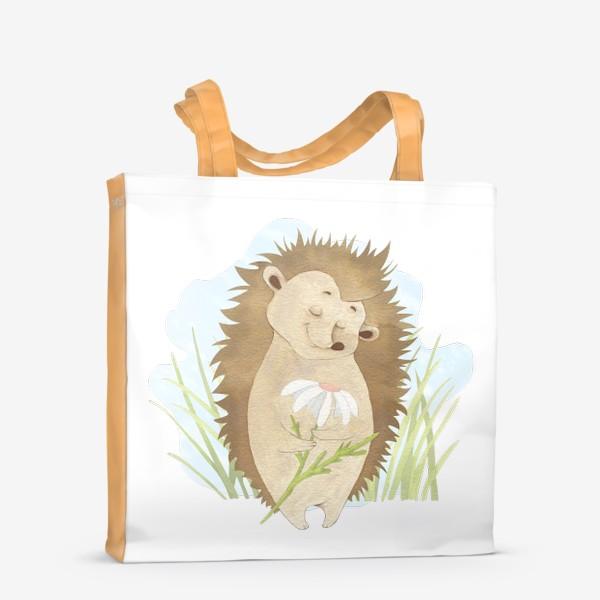 Сумка-шоппер «Ёжик с ромашкой»
