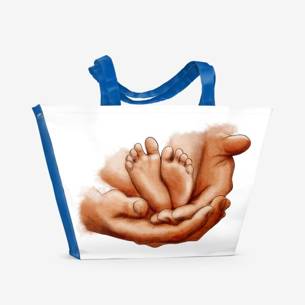 Пляжная сумка «Руки отца, ножки младенца»