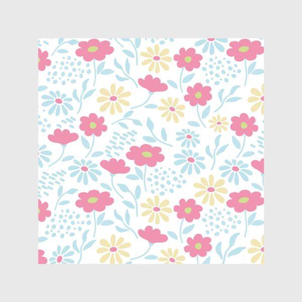 Шторы «Нежный узор с цветочками»
