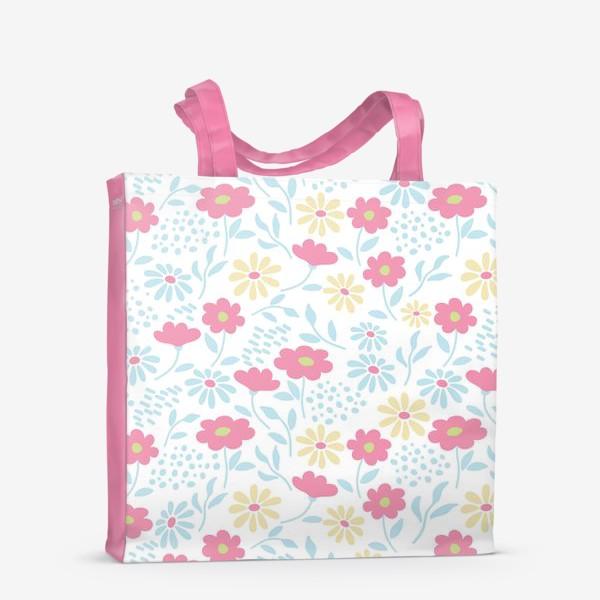 Сумка-шоппер «Нежный узор с цветочками»