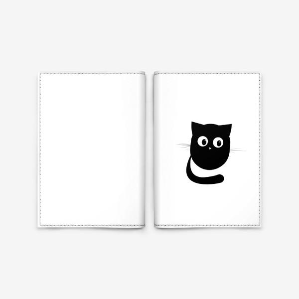 Обложка для паспорта «Нафаня - маленький черный котик»