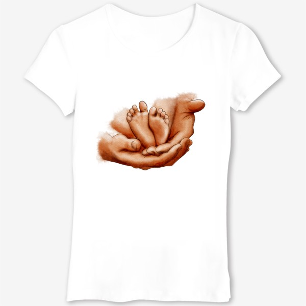 Футболка «Руки отца, ножки младенца»