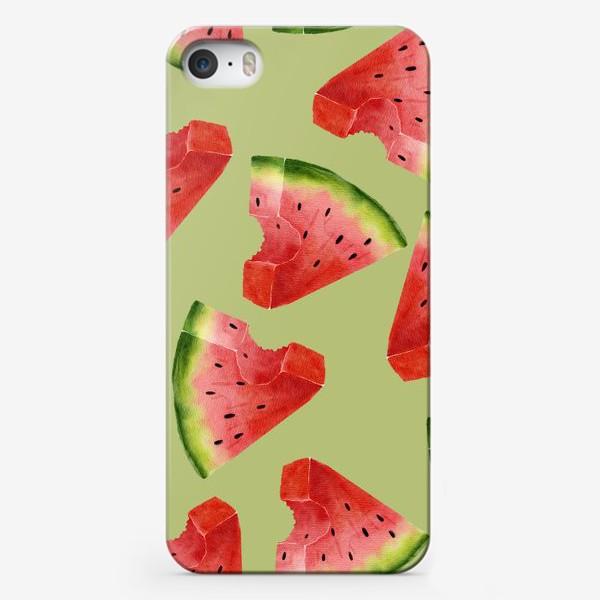 Чехол iPhone «Арбузы (паттерн)»