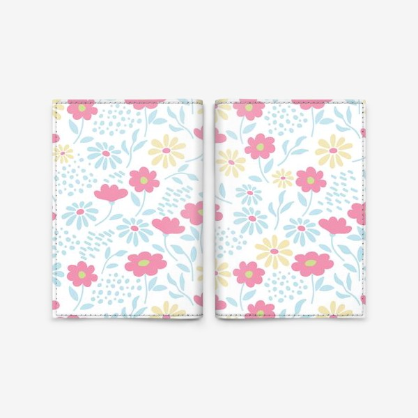 Обложка для паспорта «Нежный узор с цветочками»