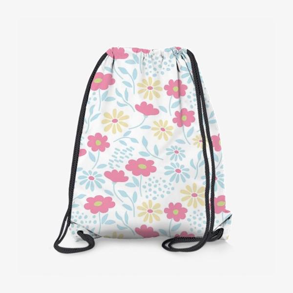 Рюкзак «Нежный узор с цветочками»