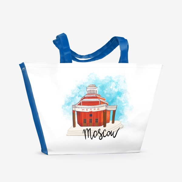 Пляжная сумка «МЕТРО АРБАТСКАЯ»