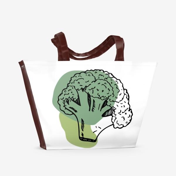 Пляжная сумка «брокколи»
