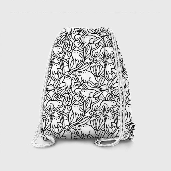 Рюкзак «Коты в цветах»