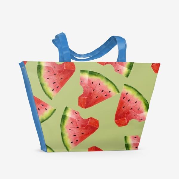 Пляжная сумка «Арбузы (паттерн)»
