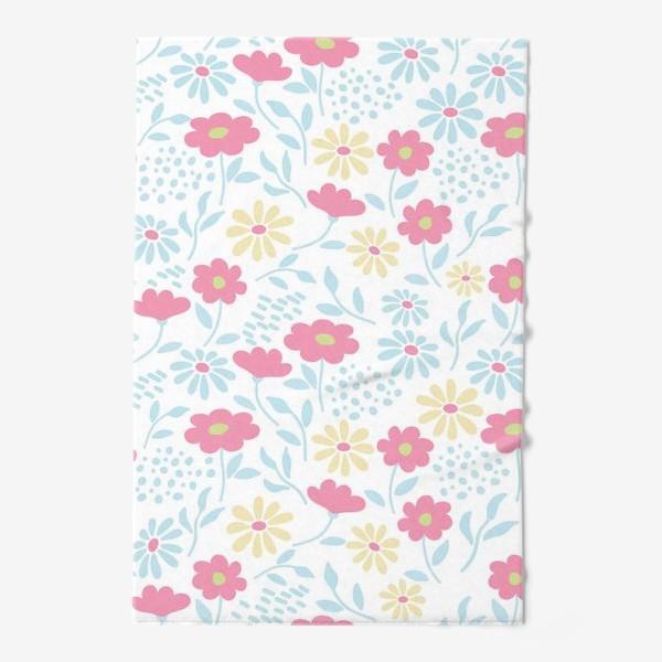 Полотенце «Нежный узор с цветочками»