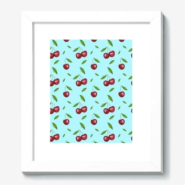 Картина «Черешня, вишня на голубом»