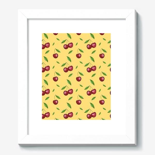 Картина «Черешня, вишня на желтом»
