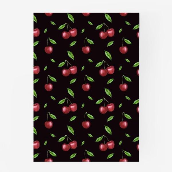Постер «Черешня, вишня на чёрном»