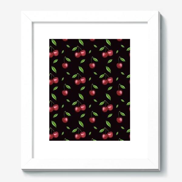 Картина «Черешня, вишня на чёрном»
