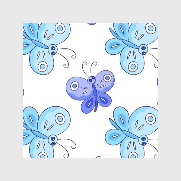 Скатерть «Голубые и фиолетовые бабочки»