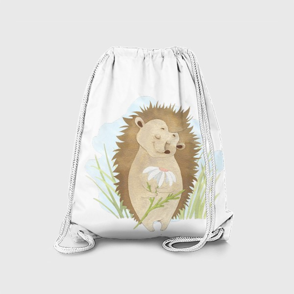 Рюкзак «Ёжик с ромашкой»