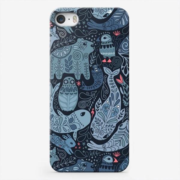 Чехол iPhone «Друзья Арктики. Зимние животные. Медведь, тупик, нарвал, кит, заяц, лиса, сова, морской котик, тюлень.»