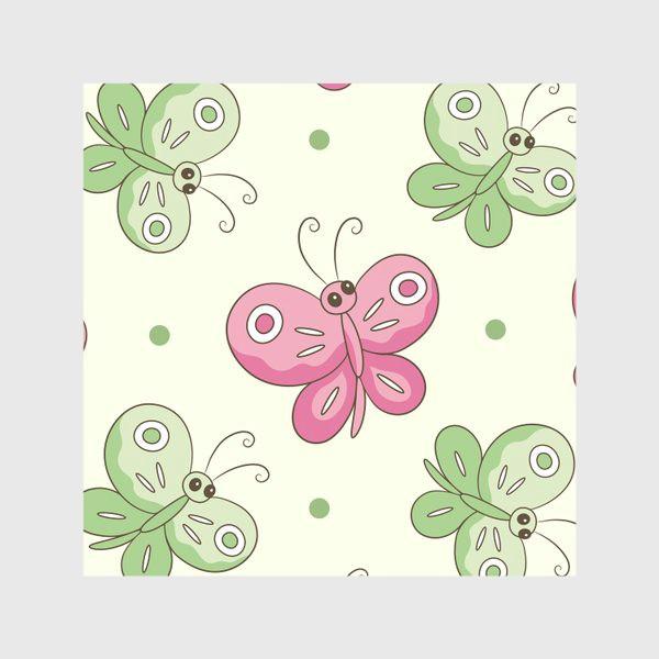 Скатерть «Розовые и зеленые бабочки»