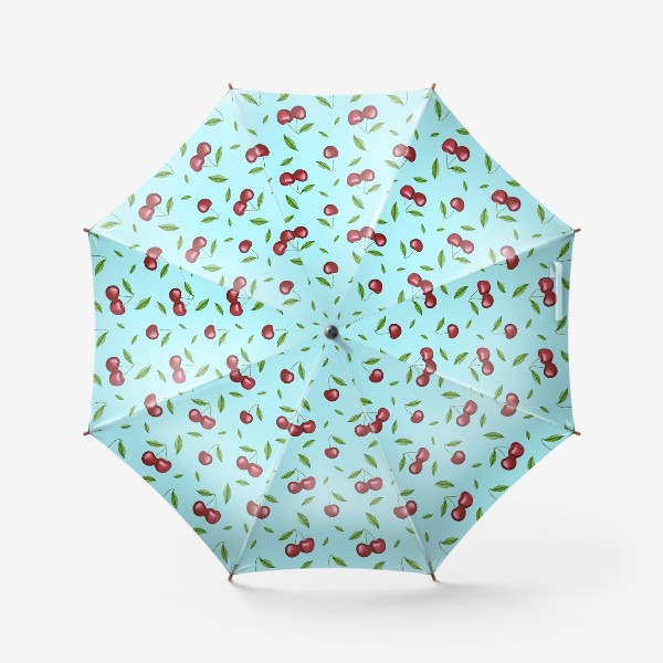 Зонт «Черешня, вишня на голубом»
