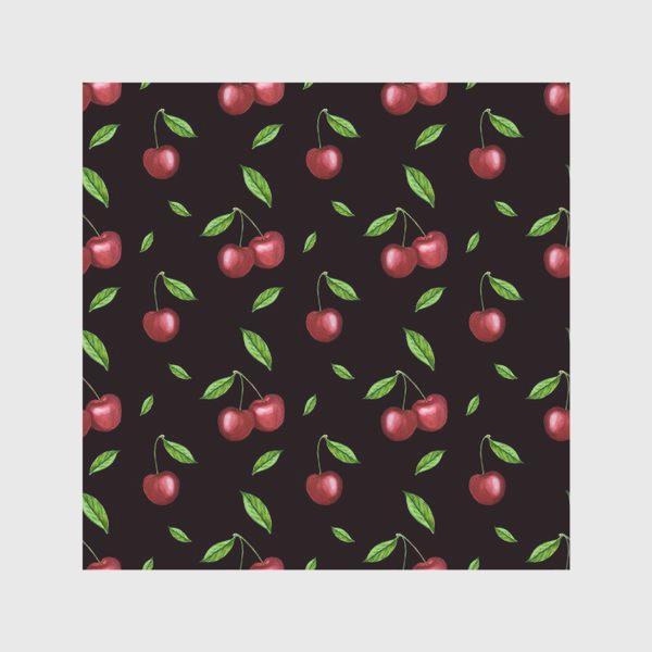 Скатерть «Черешня, вишня на чёрном»