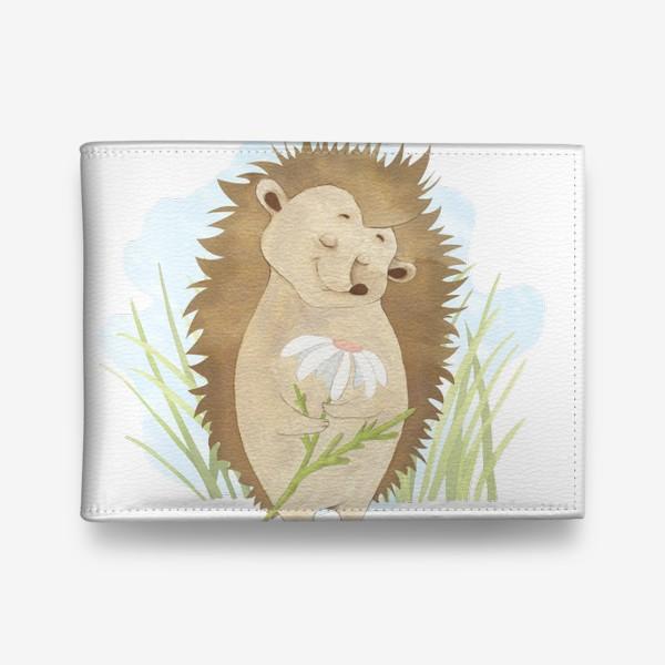 Кошелек «Ёжик с ромашкой»