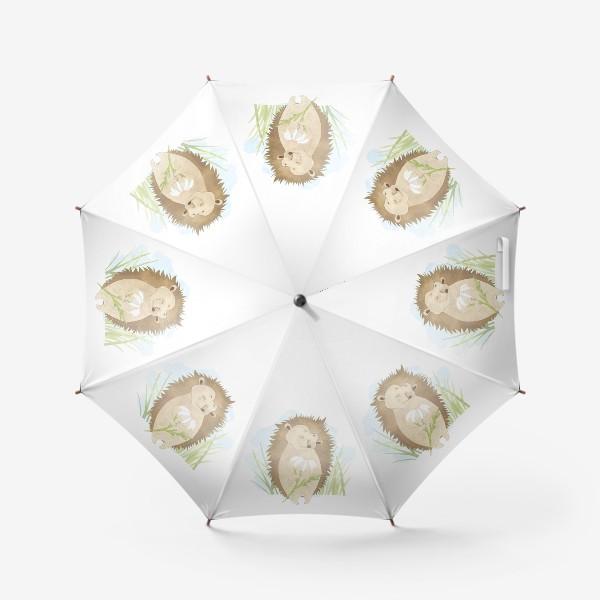 Зонт «Ёжик с ромашкой»