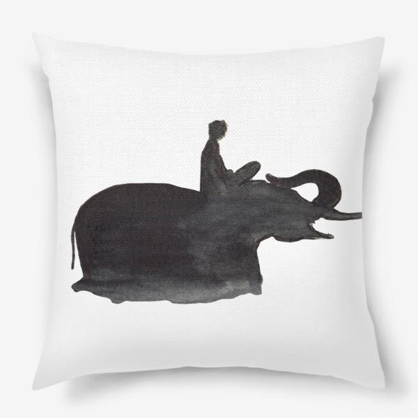 Подушка «На слоне. Верхом на мечте...»