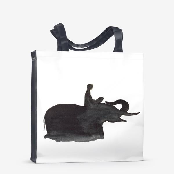 Сумка-шоппер «На слоне. Верхом на мечте...»
