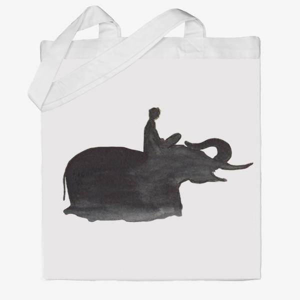 Сумка хб «На слоне. Верхом на мечте...»