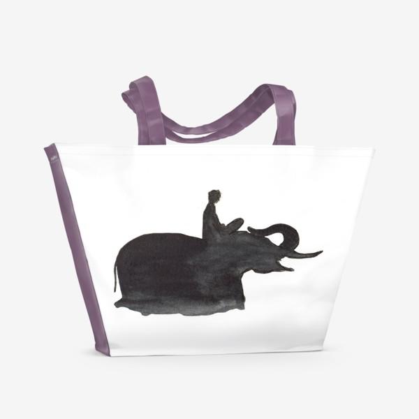 Пляжная сумка «На слоне. Верхом на мечте...»