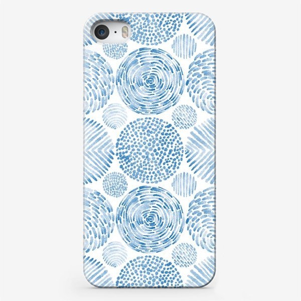 Чехол iPhone «Абстрактные акварельные круги. Орнамент.»