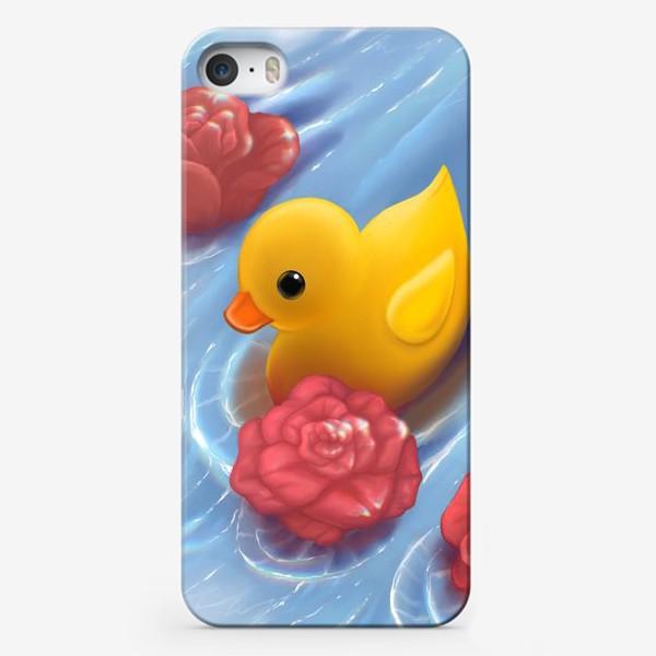 Чехол iPhone «Уточка в розах»