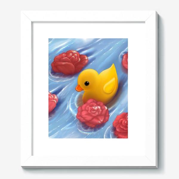 Картина «Уточка в розах»