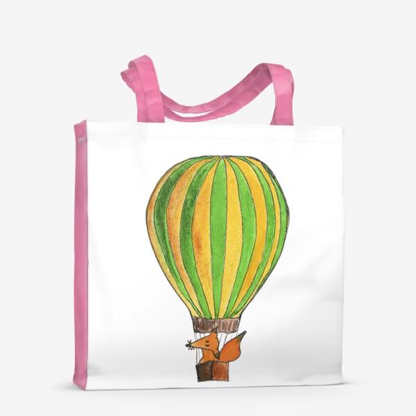 Сумка-шоппер «Лис на воздушном шаре. Только вверх!»