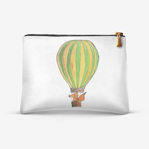 Косметичка «Лис на воздушном шаре. Только вверх!»