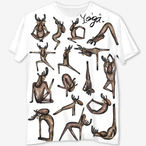 Футболка с полной запечаткой «Yoga»