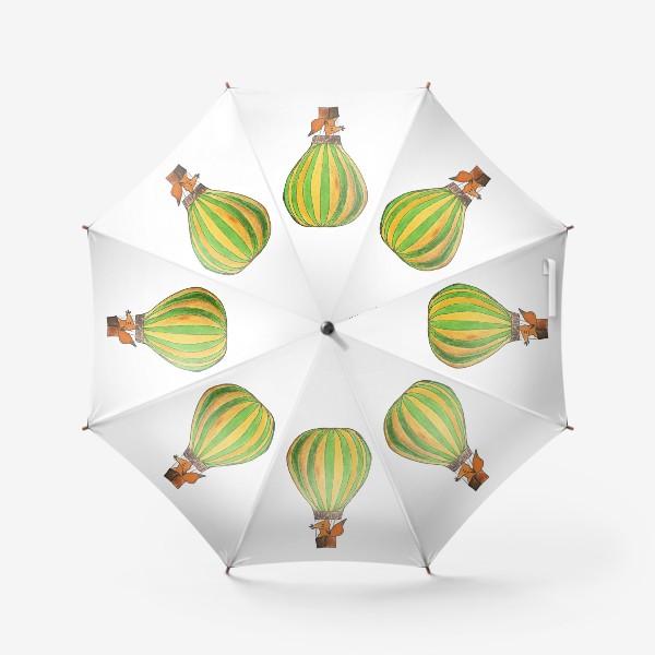 Зонт «Лис на воздушном шаре. Только вверх!»